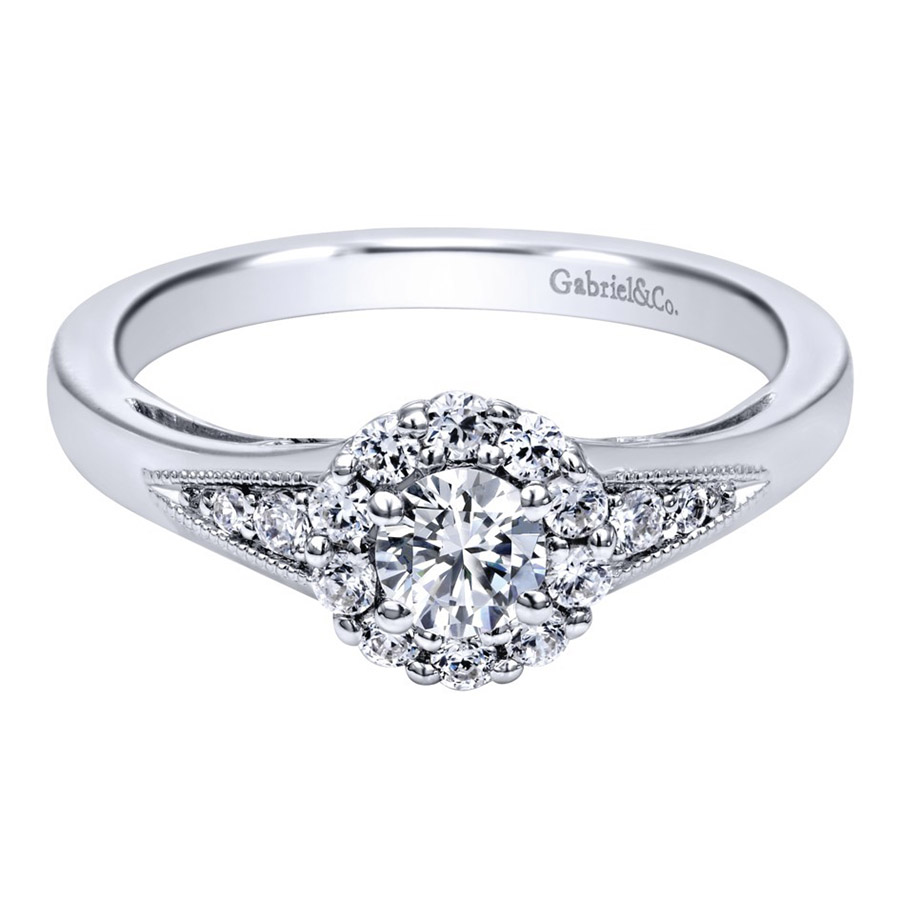 Gabriel 14 Karat Contemporary Engagement Ring ER910224W44JJ