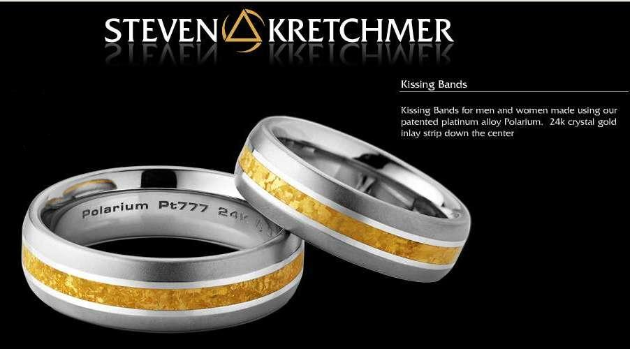 Kretchmer Polarium/24K Gold Kissing Bands Alternative View 1