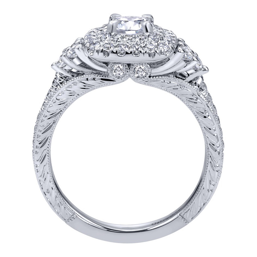 Gabriel 14 Karat Contemporary Engagement Ring ER910086W44JJ Alternative View 1