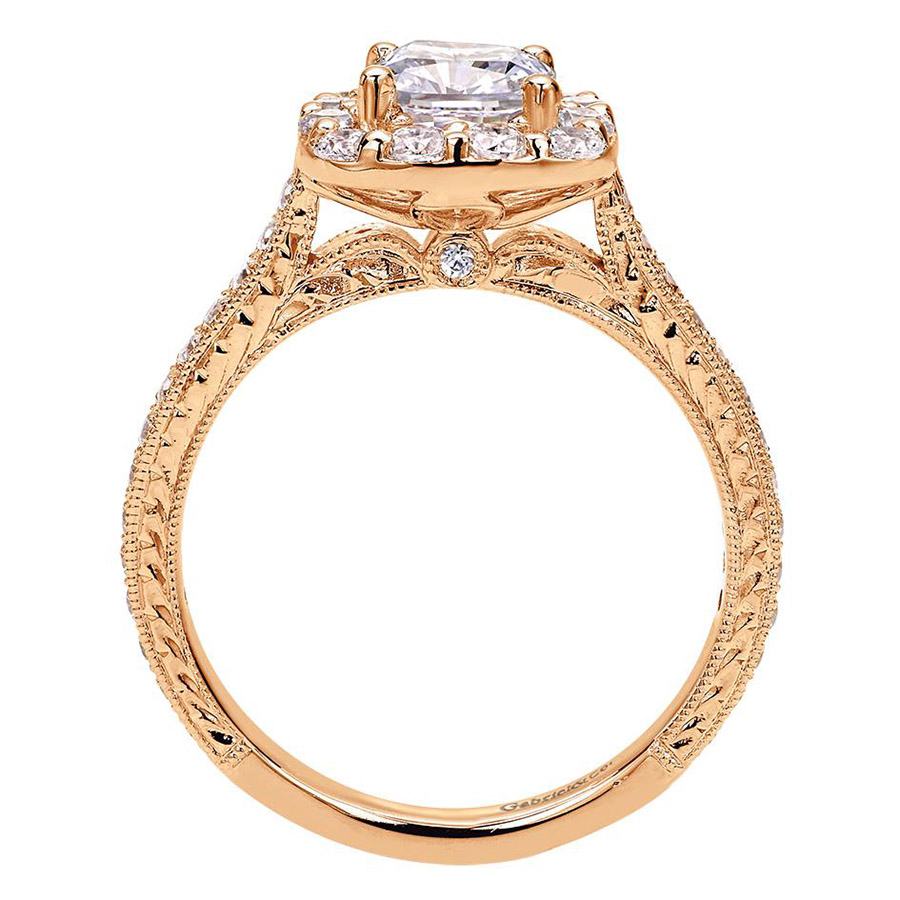 Gabriel 14 Karat Victorian Engagement Ring ER7500K44JJ Alternative View 1