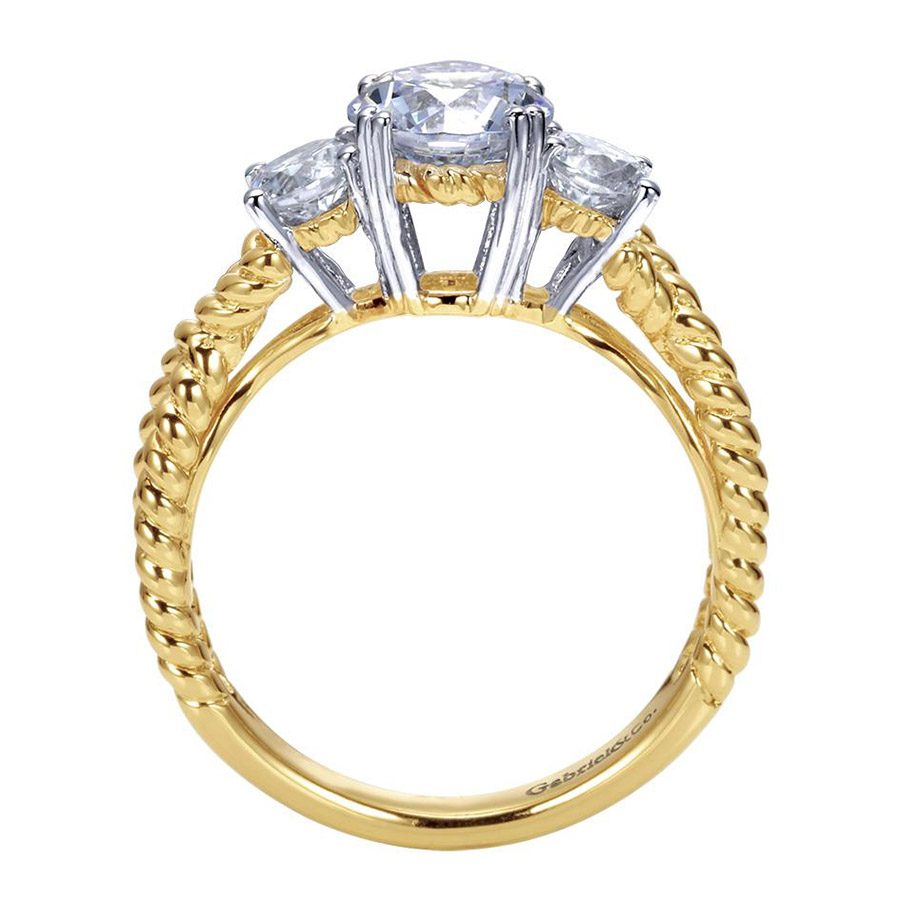 Gabriel 14 Karat Contemporary Engagement Ring ER5368M43JJ Alternative View 1