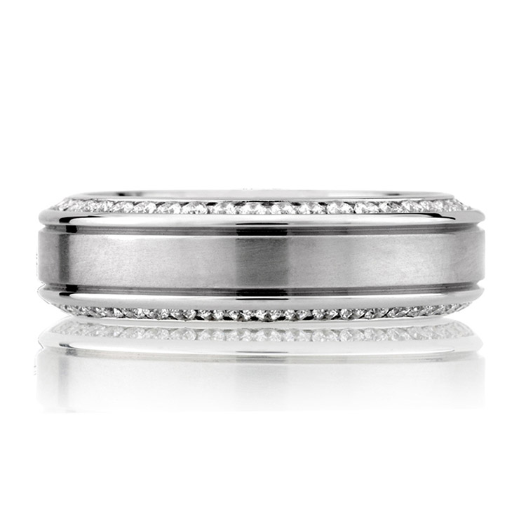 A Jaffe Classic Platinum Wedding Ring BB0131 / 110 Alternative View 2