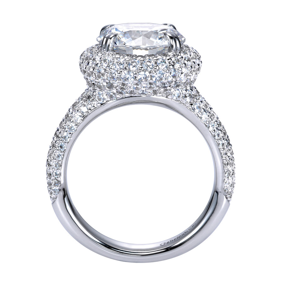 Gabriel 18 Karat Contemporary Engagement Ring ER8309W83JJ Alternative View 1