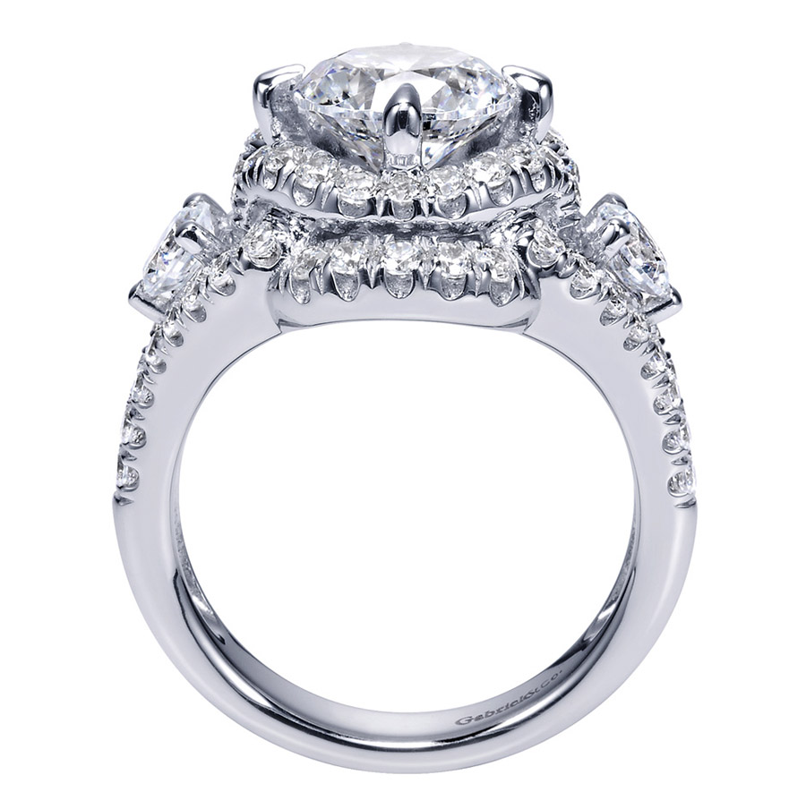 Gabriel 18 Karat Contemporary Engagement Ring ER8472W83JJ Alternative View 1