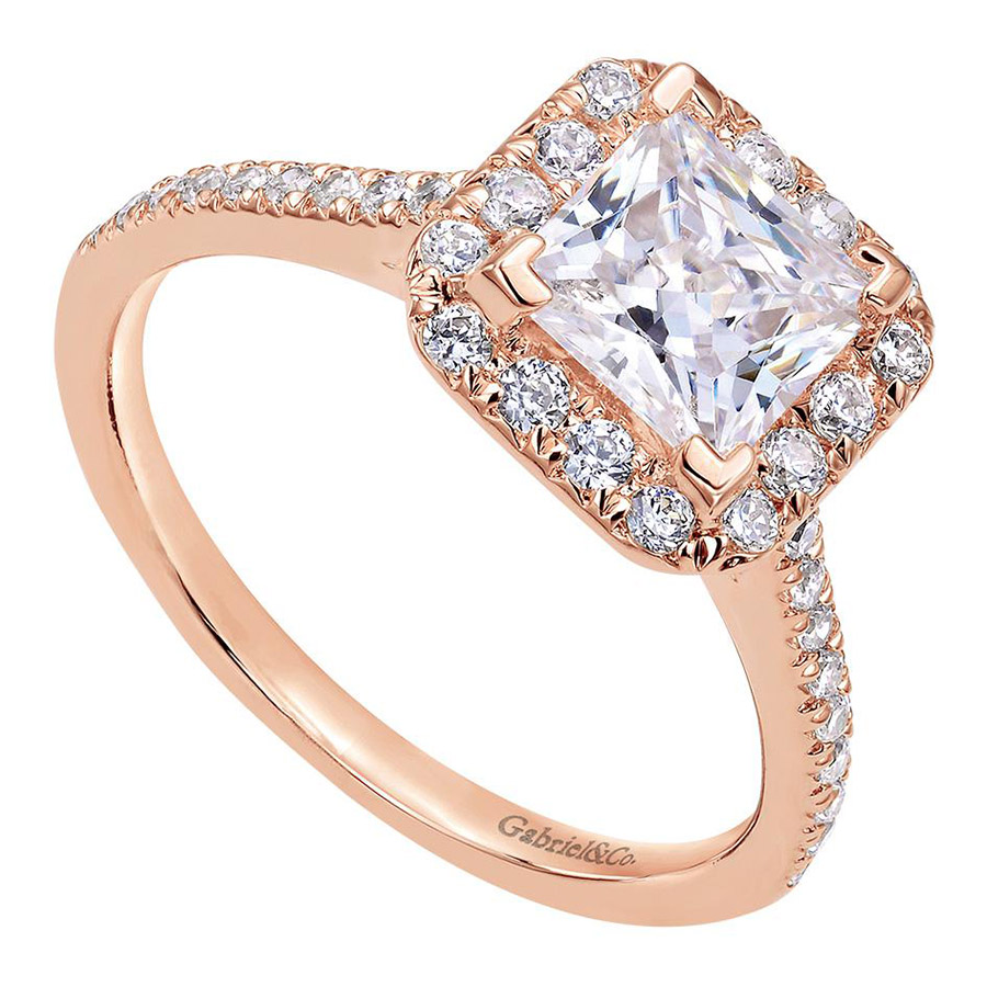 Gabriel 14 Karat Contemporary Engagement Ring ER7266K44JJ Alternative View 2