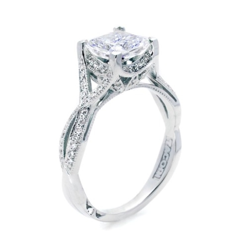 Tacori 2565PRSM5 Platinum Simply Tacori Engagement Ring Alternative View 1