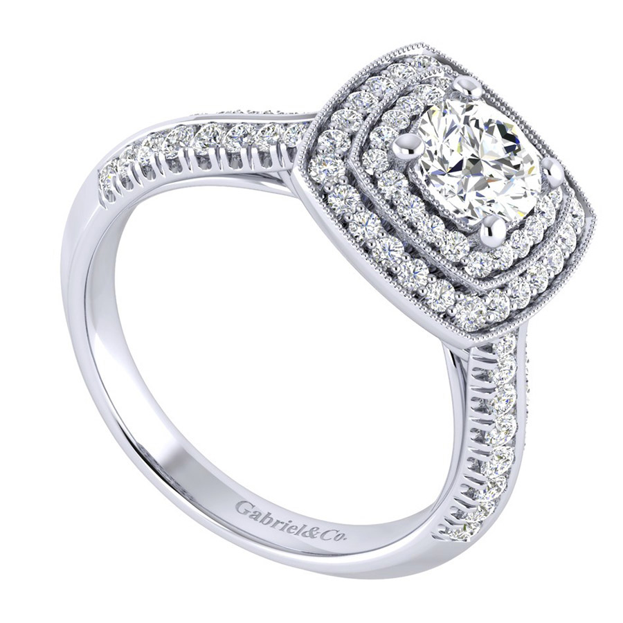 Gabriel 14 Karat Perfect Match Engagement Ring ER002B3AGW44JJ Alternative View 2