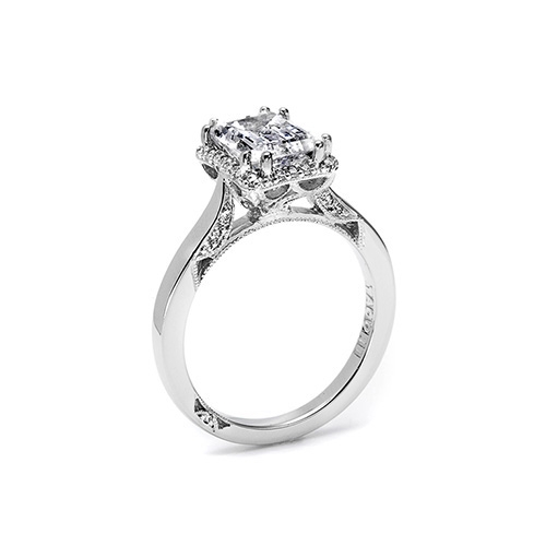 Tacori Platinum Dantela Engagement Ring 2620ECMD Alternative View 1