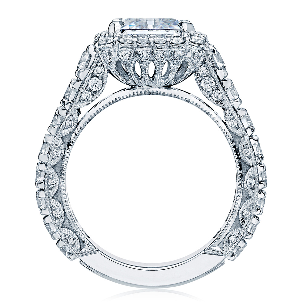 HT2613EC10X8 Platinum Tacori RoyalT Engagement Ring Alternative View 1