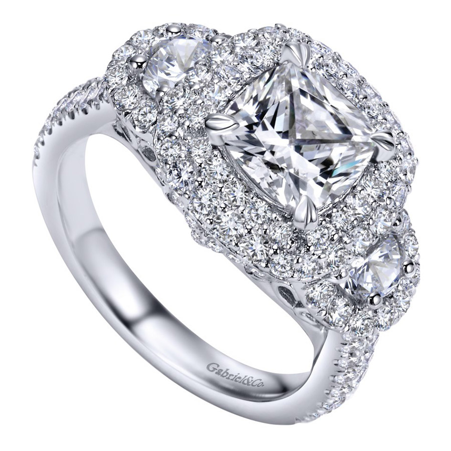 Gabriel 14 Karat Contemporary Engagement Ring ER8470W83JJ Alternative View 2