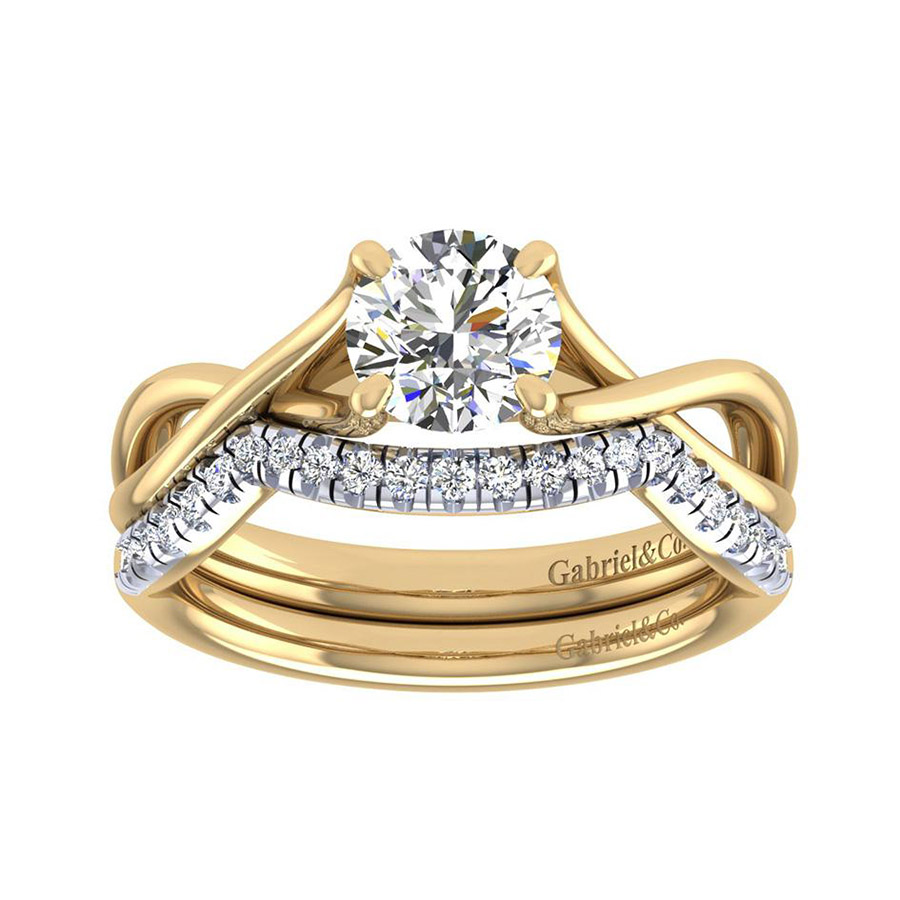 Gabriel 14 Karat Contemporary Wedding Band WB7517Y44JJ Alternative View 3