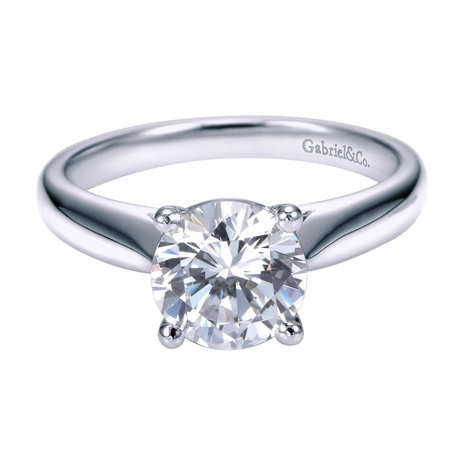 Gabriel Platinum Contemporary Engagement Ring ER6659PTJJJ