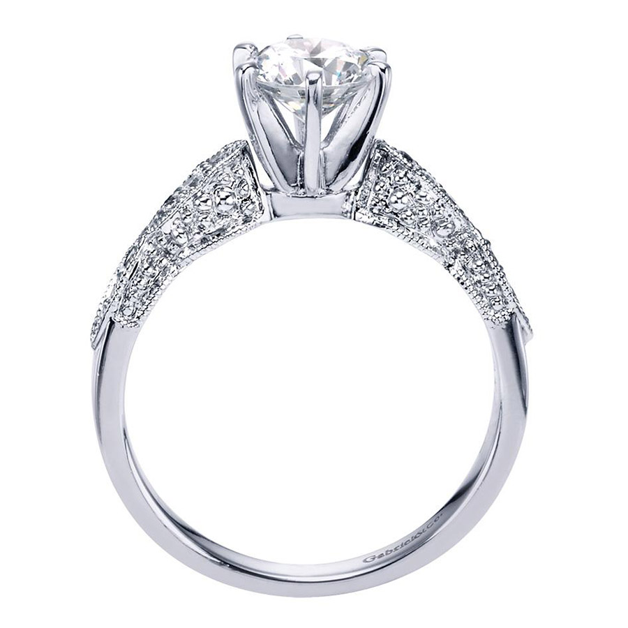 Gabriel 14 Karat Victorian Engagement Ring Er3848w44jj Alternative View  1
