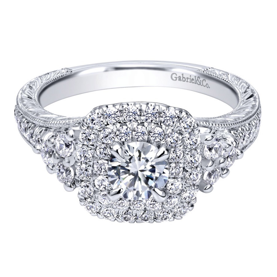 Gabriel 14 Karat Contemporary Engagement Ring ER910086W44JJ