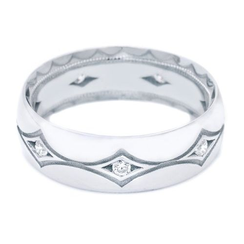 Tacori 1007WD 18 Karat Crescent Wedding Band
