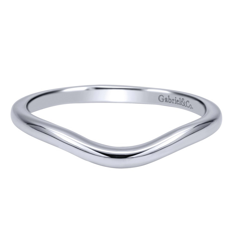 Gabriel 14 Karat Contemporary Wedding Band WB911928R0W4JJJ