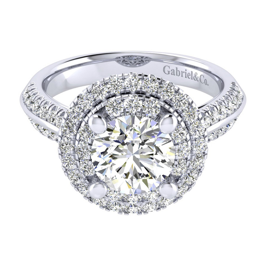 Gabriel 14 Karat Perfect Match Engagement Ring ER002C8AIW44JJ