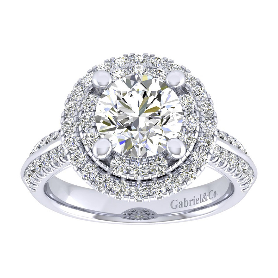 Gabriel 14 Karat Perfect Match Engagement Ring ER002C8AIW44JJ Alternative View 4