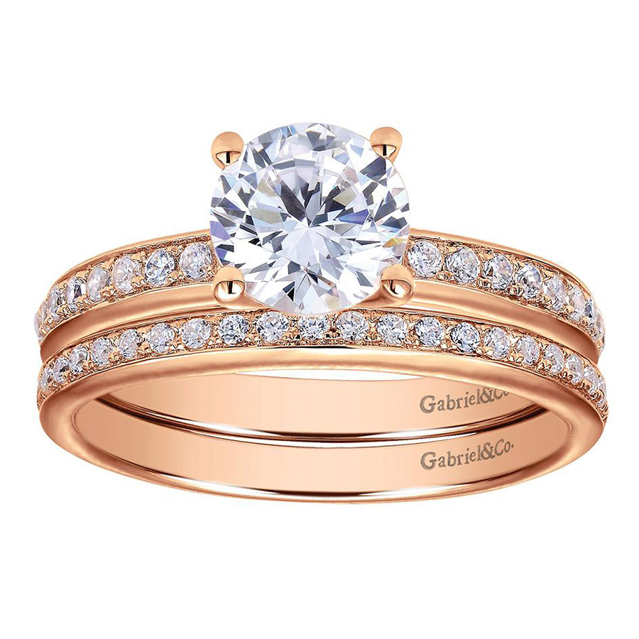 Gabriel 14 Karat Contemporary Engagement Ring ER7537K44JJ Alternative View 3