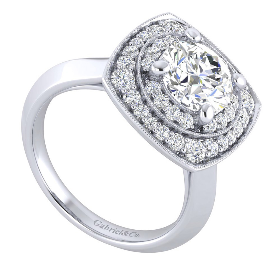 Gabriel 14 Karat Perfect Match Engagement Ring ER001C8AFW44JJ Alternative View 2