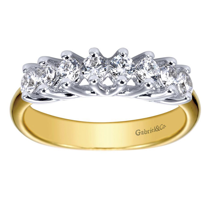 Gabriel 14 Karat Contemporary Wedding Band WB3956Y44JJ Alternative View 4