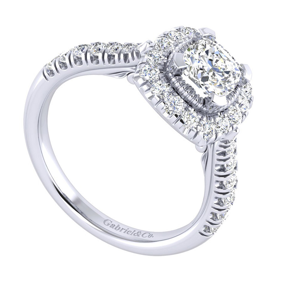 Gabriel 14 Karat Perfect Match Engagement Ring ER039B4AJW44JJ Alternative View 2