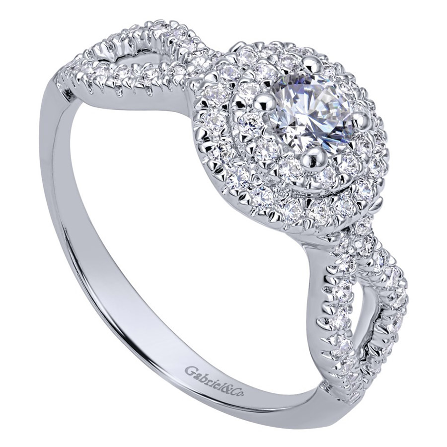 Gabriel 14 Karat Contemporary Engagement Ring ER911598R1W44JJ Alternative View 2