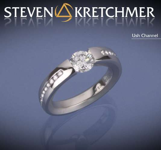 Kretchmer 18 Karat Ush Channel Tension Set Ring