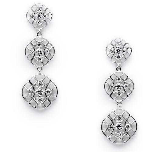 Tacori Diamond Earrings Platinum Fine Jewelry FE618