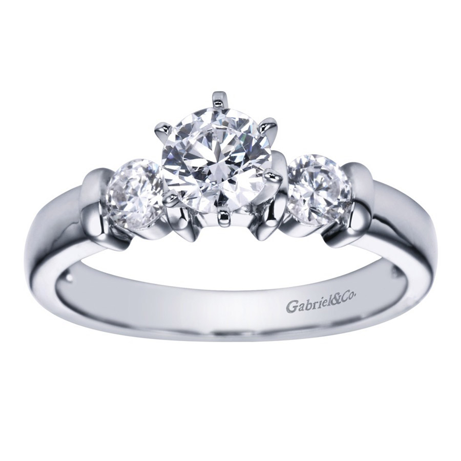 Gabriel 14 Karat Contemporary Engagement Ring ER1701PT3JJ Alternative View 4