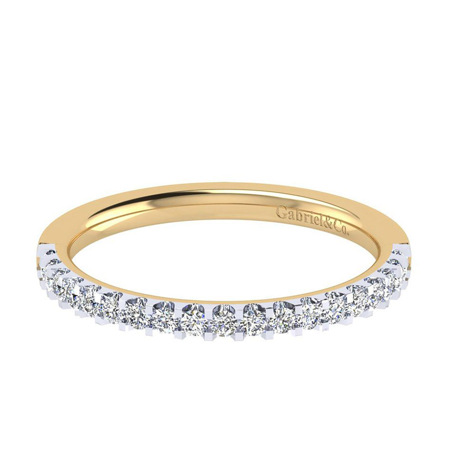 Gabriel 14 Karat Contemporary Wedding Band WB7510Y44JJ