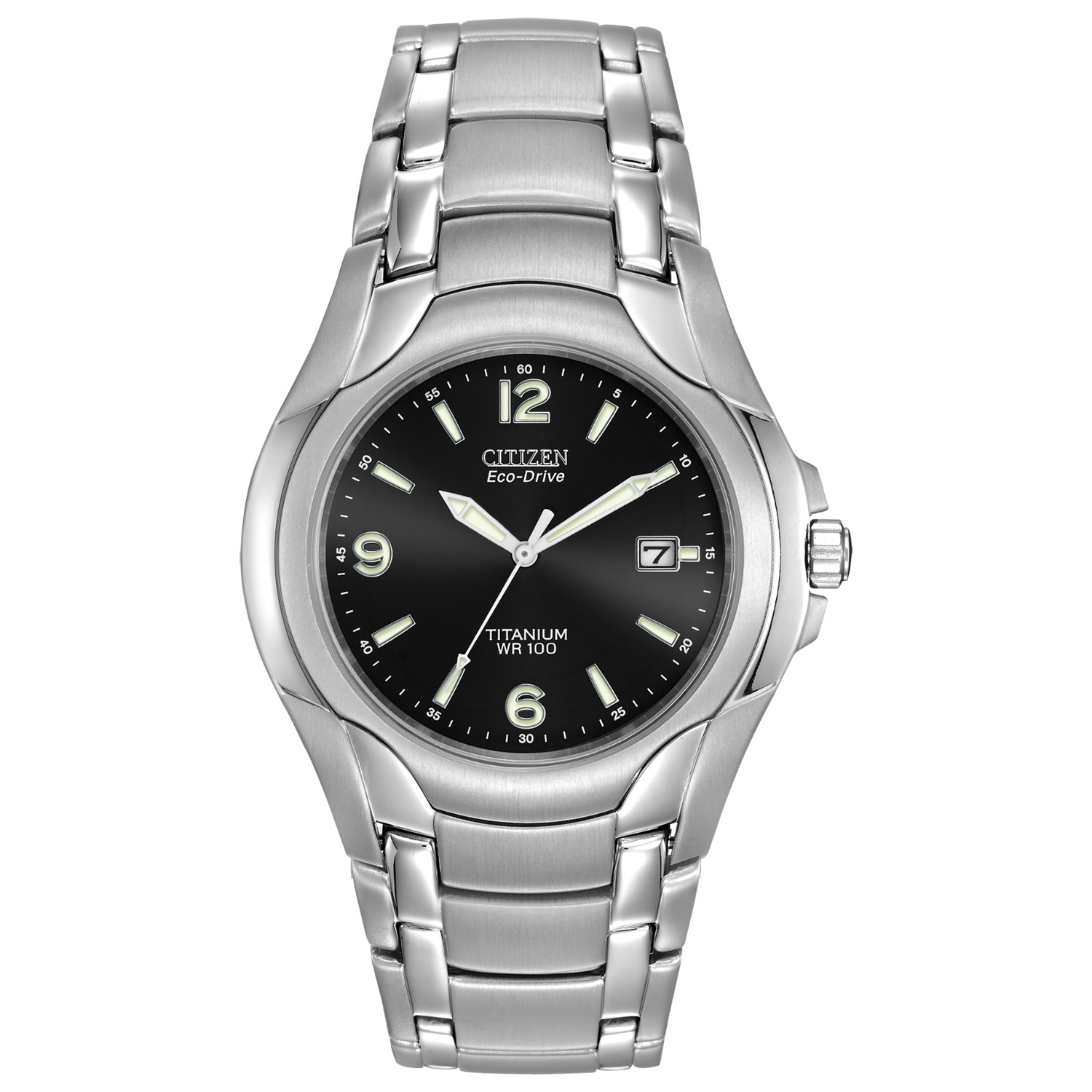 Bm6060 57f citizen eco drive watch wr100 tq diamonds for Watches zales