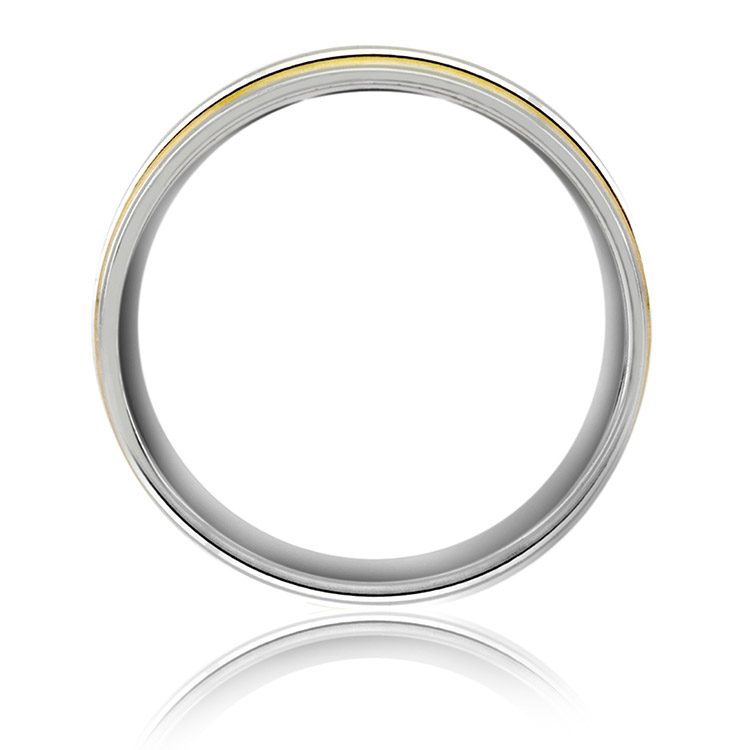 A Jaffe Classic Platinum Wedding Ring BR0331 Alternative View 1