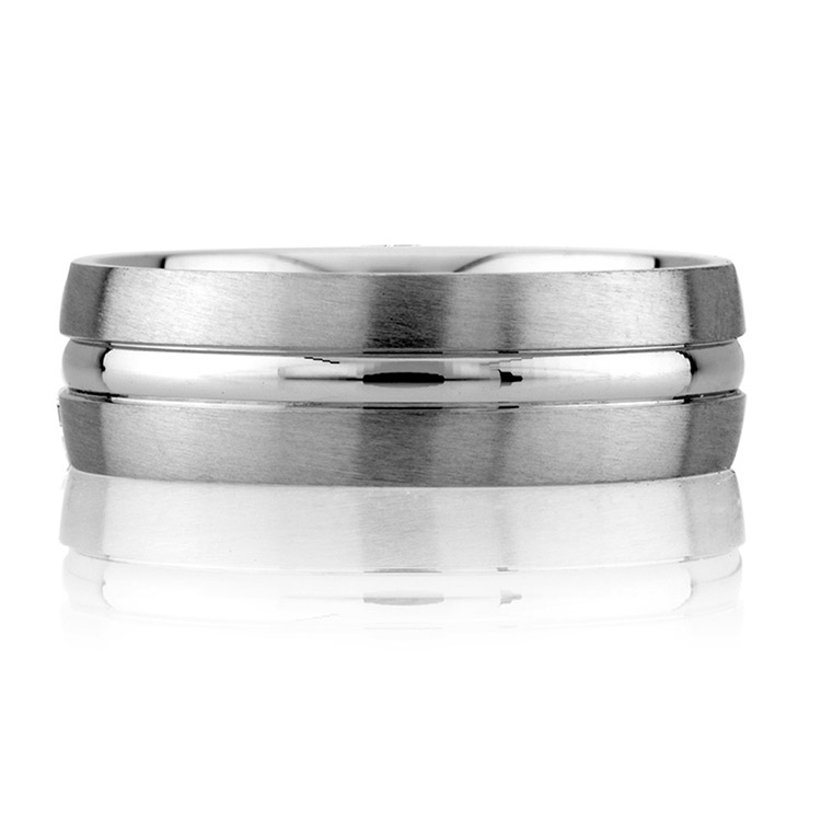 A Jaffe Classic Platinum Wedding Ring BR4740 Alternative View 2