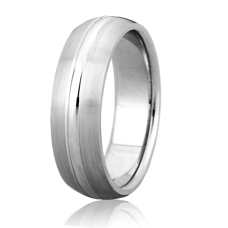 A Jaffe Classic Platinum Wedding Ring BR4740 Alternative View 1