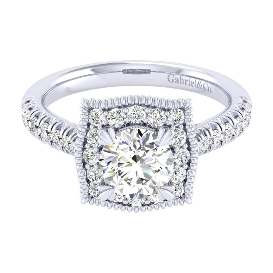 Gabriel 14 Karat Perfect Match Engagement Ring ER039B4AAW44JJ