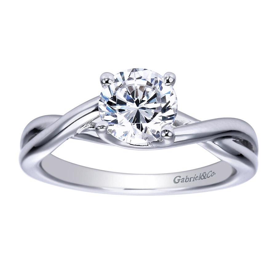 Gabriel Platinum Contemporary Engagement Ring ER8072PTJJJ Alternative View 4