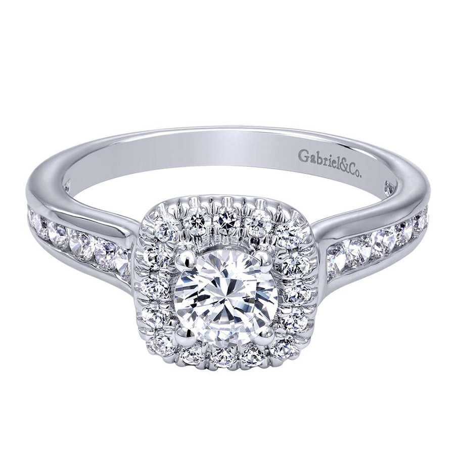Gabriel 14 Karat Contemporary Engagement Ring ER910136W44JJ