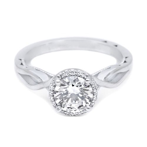 Simply Tacori Platinum Diamond Solitaire Engagement Ring 52RD65
