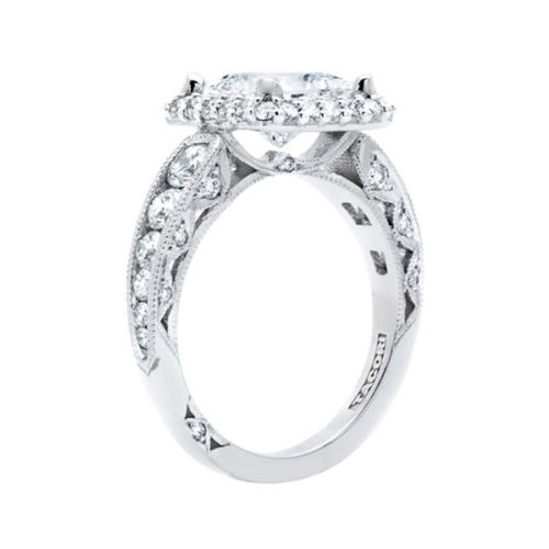 HT2521PR7 Tacori Crescent Platinum Engagement Ring Alternative View 3