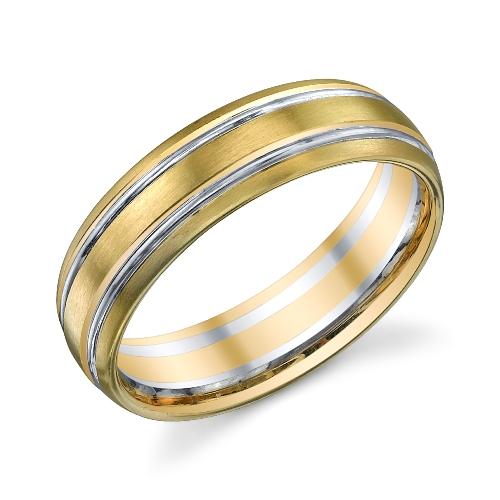 273011 christian bauer 14 karat two tone wedding ring for Christian bauer wedding rings
