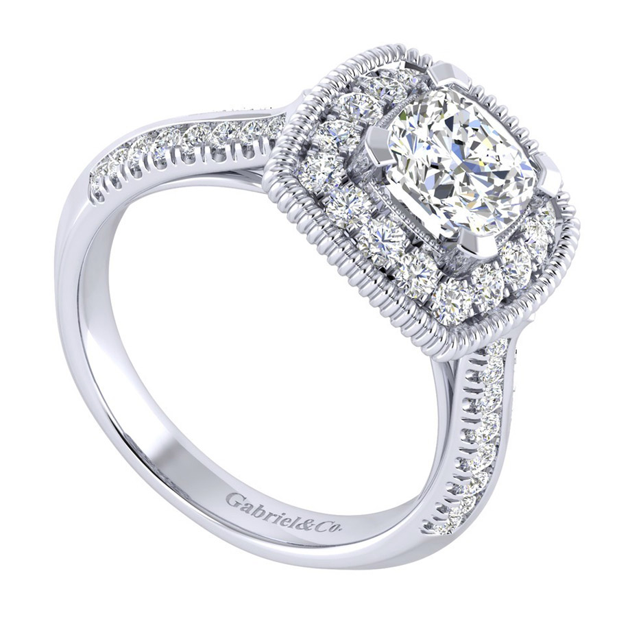 Gabriel 14 Karat Perfect Match Engagement Ring ER002C6AKW44JJ Alternative View 2
