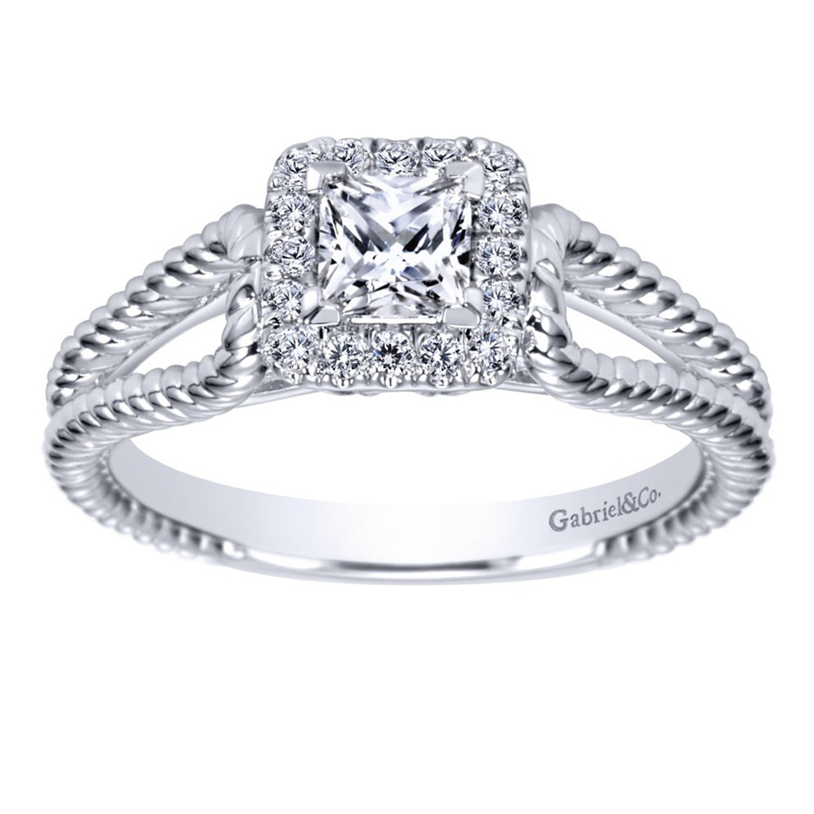 Gabriel 14 Karat Contemporary Engagement Ring ER98562W44JJ Alternative View 4