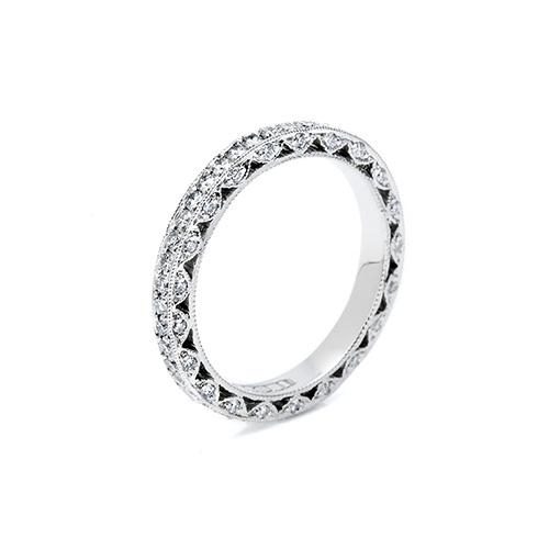 Tacori Platinum Crescent Silhouette Wedding Band HT2259B TQ Diamonds