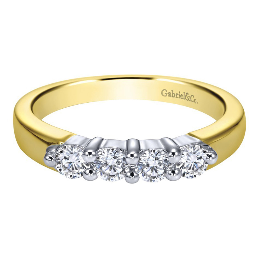 Gabriel 14 Karat Contemporary Wedding Band WB2789M43JJ
