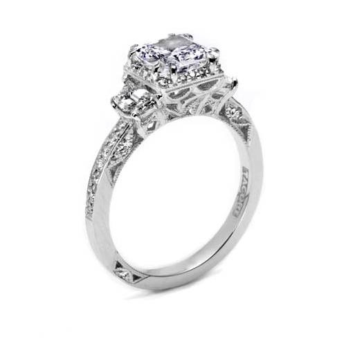 Tacori Dantela Platinum Engagement Ring 2628PRP Alternative View 1
