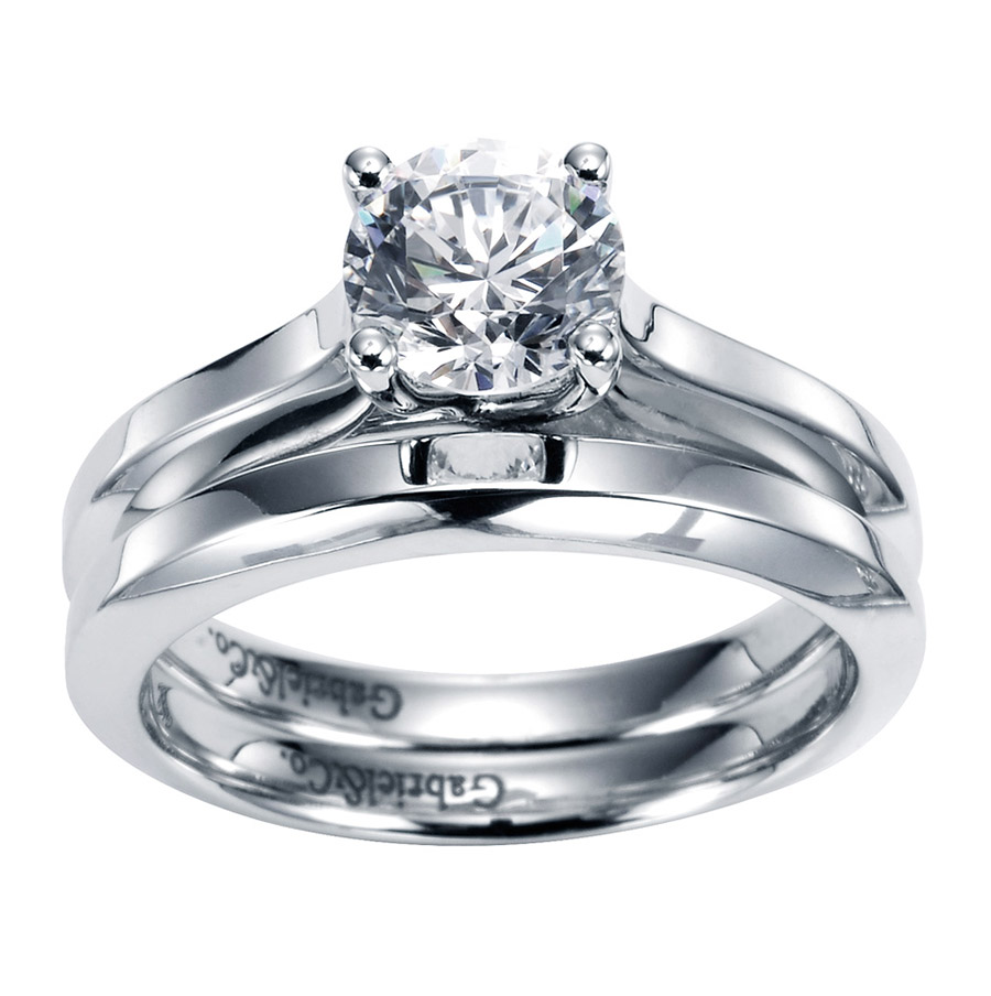 Gabriel Platinum Contemporary Engagement Ring ER6611PTJJJ Alternative View 3