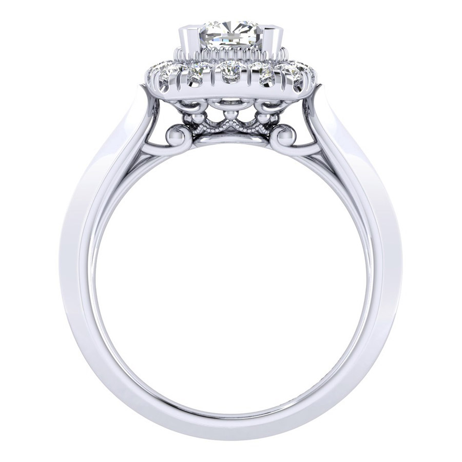 Gabriel 14 Karat Perfect Match Engagement Ring ER001B4AJW44JJ Alternative View 1