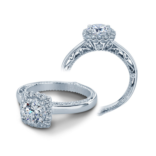 Verragio Venetian-5019CU Platinum Engagement Ring