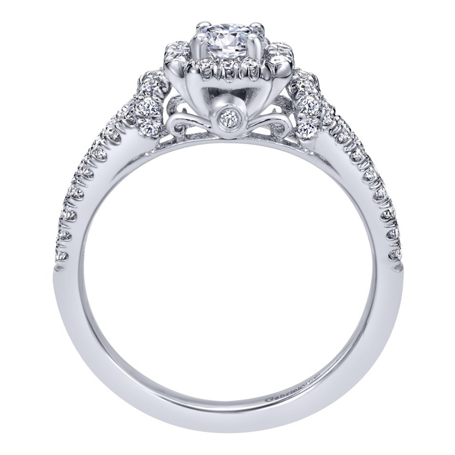 Gabriel 14 Karat Contemporary Engagement Ring ER910161W44JJ Alternative View 1